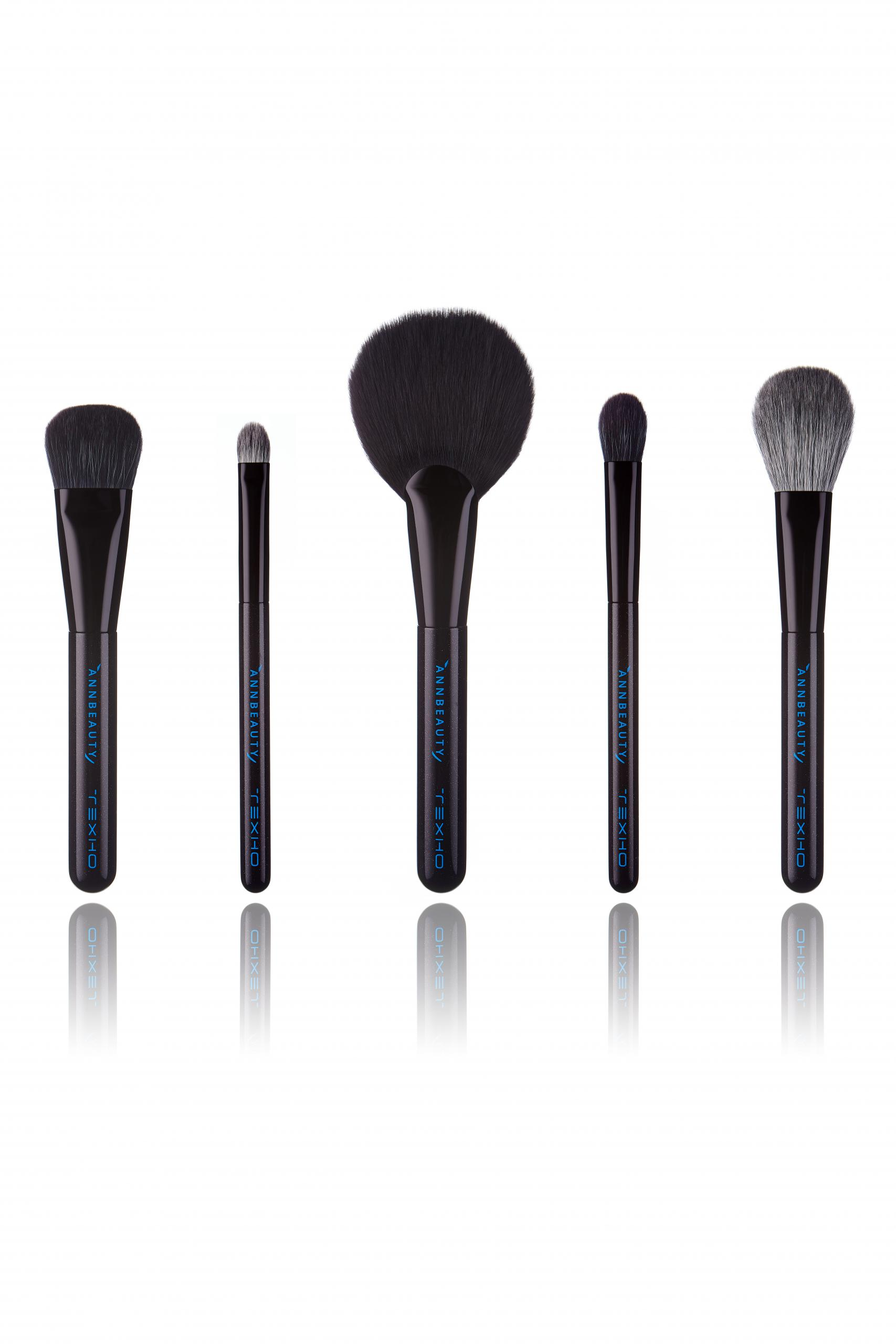 Набор кистей для макияжа Annbeauty ТЕХНО - лимитированная коллекция 2021 года